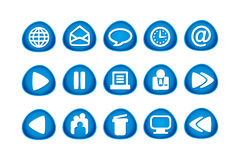 Web and Internet Icons. 15 web and internet icons royalty free illustration