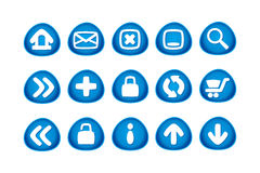 Web and Internet Icons. 15 web and internet icons vector illustration