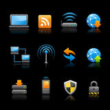 Web & Internet icons - Connectivity // Black Royalty Free Stock Photography