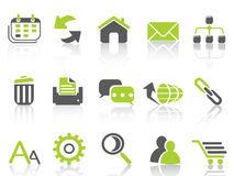 Web internet icons ,green series Royalty Free Stock Photo