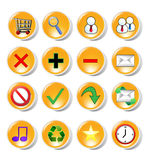 Web and internet icons Stock Image