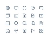 Web and internet icons. Line series Stock Images