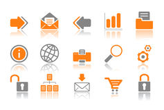 Web and Internet icons - orange series Stock Photography