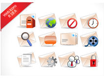 Web and Internet Icons R-series Stock Images