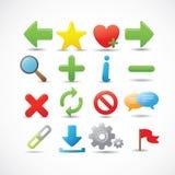 Web and Internet Icons Set Stock Image