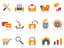 Web and internet icons set Royalty Free Stock Image