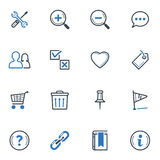 Web and Internet Icons Set 2 - Blue Series Royalty Free Stock Photography