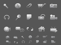 Web and Internet icons set in gray Stock Images