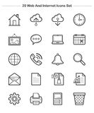 Web and Internet icons set, Line Thickness icons. An illustration set for your web page, presentation, & design products Stock Image