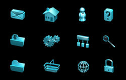 Web and internet icons. For websites, presentation Royalty Free Stock Photos