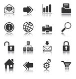 Web and Internet icons - white series Royalty Free Stock Images