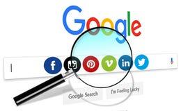 Web Internet Search, social media stock illustration