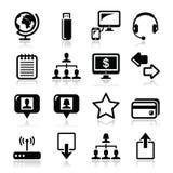 Web, internet simple black  icons set Stock Image
