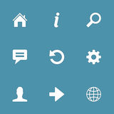 Web Internet Vector Icon Set Royalty Free Stock Image