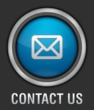 Contact Icon. Web Ion: Blue Contact Button royalty free illustration
