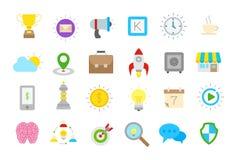 Web isolated  icons set. Set of 24 Web isolated  icons Stock Images