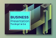 Web Isometric Presentation Cover Template stock illustration