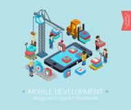 Web isometrico piano di concetto di progetto 3d infographic Fotografia Stock Libera da Diritti