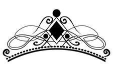 web Kalligraphische Vignetten der Weinlese, elegante Diadems und dekorative Gestaltungselemente im Retrostil, Vektor lizenzfreie abbildung