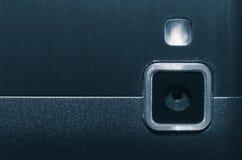 Web-Kamera und blitzen Ihr Handy Stockbild