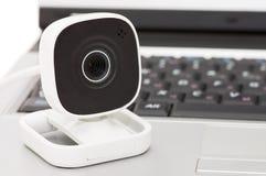 Web-Kamera und Laptop Lizenzfreie Stockfotos