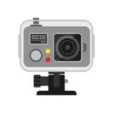 Web-Kamera-Vektorillustration auf Weiß Lizenzfreie Stockfotos