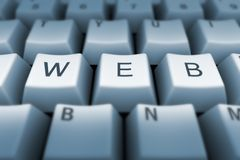 Web keyboard Royalty Free Stock Photo