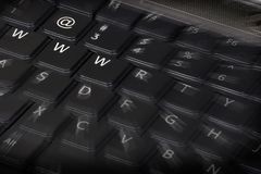 Web keyboard. Keyboard with three W and an @ in evidence Royalty Free Stock Photo