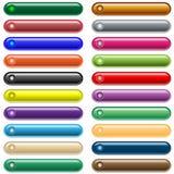 Web knöpft 20 glänzende sortierte Farben Lizenzfreies Stockfoto