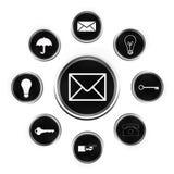 Web knoop-e-mail royalty-vrije illustratie