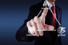 Web-Kommunikation Lizenzfreies Stockbild