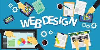 Web-Konzept des Entwurfes Stockfoto