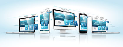 Web-Konzept des Entwurfes Vektor lizenzfreie abbildung