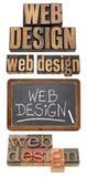 Web-Konzept des Entwurfescollage Lizenzfreie Stockbilder