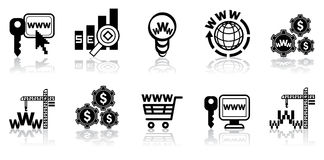 Web-konzipieren Sie Ikonenset Stockfotografie
