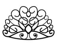 web Kronenmaskottchen mit bunten Edelsteinsteinen Vektorabbildung getrennt auf wei?em Hintergrund Gut f?r Logos, Ikonen, Plakate, stock abbildung