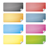 Web labels Stock Photography