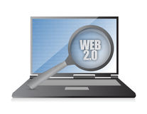 Web laptop magnify Royalty Free Stock Photos