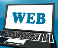 Web On Laptop Shows Online Internet Www Or Net Royalty Free Stock Photo