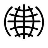 Web large WWW, la terre, emplacement de mot d'icône de vecteur illustration libre de droits