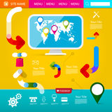 Web Layout. Colorful Funky Web Design Royalty Free Stock Photos