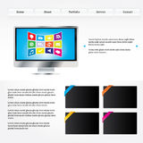 Web layout Royalty Free Stock Photo