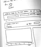 Web layout sketch paper Book, mobile and web sketch. Web layout sketch paper Book, mobile web sketch stock image