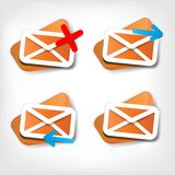 Web letter icon Royalty Free Stock Images