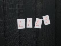 Web of lies Stock Photo