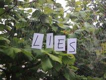 Web of lies Royalty Free Stock Photo