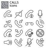 Line icon. Calls icon. Web line icon. Calls icon stock illustration