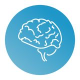 Web line icon. Human brain stock illustration