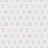 Web line icon pattern set Royalty Free Stock Images