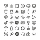 Web line icon set. Thin icons Royalty Free Stock Photo
